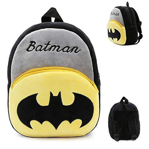 414HpQUwqEL - Black Hill Cute Kids Backpack Toddler Bag Plush Animal Cartoon Mini Travel Bag for Baby Girl Boy 1-6 Years (Batman)