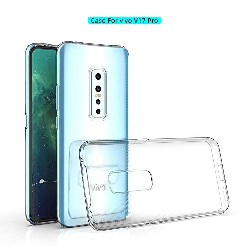 Prime Retail Transparent Soft Rubber Back Cover for Vivo V17 Pro (Transparent) 125