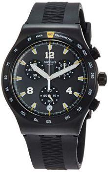 Swatch Men's Chrononero YVB405 Black Rubber Quartz Sport Watch