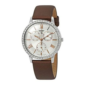 Orient Dress Crystal Silver Dial Ladies Watch FUT0H006W
