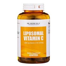 Dr. Mercola Liposomal Vitamin C 1,000mg per Serving – 180 Capsules – 90 Servings – Higher Bioavailability Potential & Protection Against Intestinal Discomfort