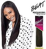 Outre Beat Human Hair Weave - Beat Brazilian Remi (10S, Color 1B)