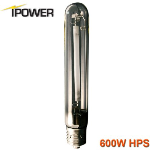 iPower 600 Watt High Pressure Sodium HPS Grow Light Bulb Lamp, High PAR Enhanced Red and Orange Spectrums CCT 2100K