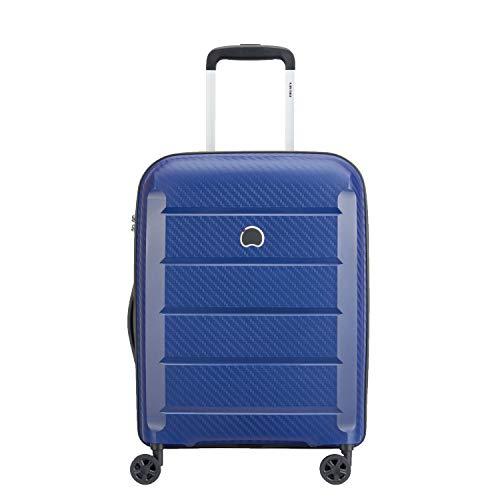 Delsey-BINALONG-Polypropylene-55-Cm-4-Wheels-Blue-Hard-Suitcase