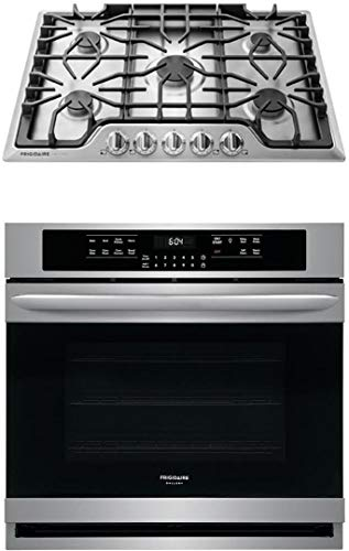 Frigidaire Gallery Series 2 Piece Stainless Steel Kitchen Package With FGGC3047QS 30' Gas Sealed Burner Style Cooktop and FGEW3065PF 30' Electric Single Wall Oven