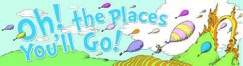 Eureka Dr. Seuss Classroom Banner, Oh The Places Balloons, 12 x 45