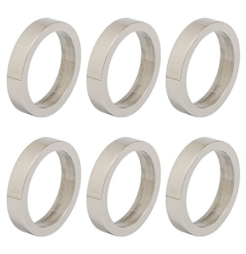 DII Contemporary Chic Napkin Rings for Dinner Parties, Weddings Receptions, Family Gatherings, or Everyday Use, Set Your Table With Style - Silver Circle, Set of 6