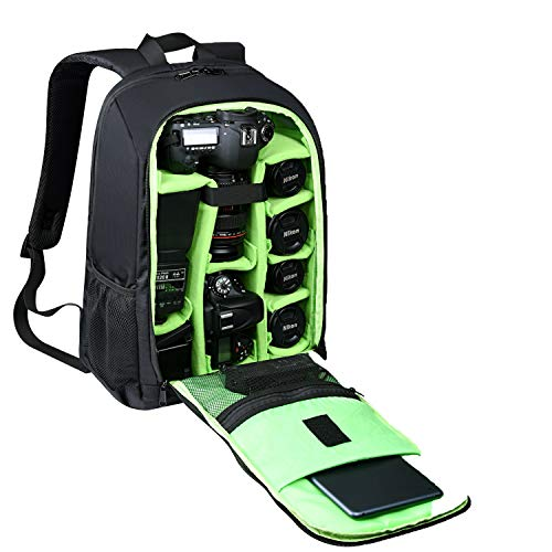 Estarer SLR/DSLR Camera Backpack for Nikon Canon Sony Digital Lens GoPro Accessories 15.6' Laptop w/Rain Cover Camera Bag