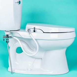 GenieBidet ELONGATED Seat-Self Cleaning Dual Nozzles. Rear & Feminine Cleaning - No wiring required. Simple 20-45 minute installation or less. Hybrid T with ON/OFF Included!