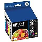 T200XLBCS Epson 200XL/200 high yield Black & standard Color Ink Cartridges (T200XL-BCS), 4/Pack T200XLBCS