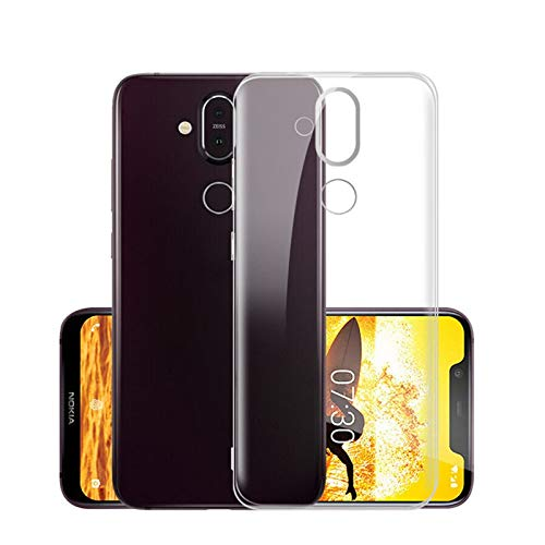 Prime Retail Thin Silicone Back Cover for Nokia 8.1 , 2018 (Transparent) 1