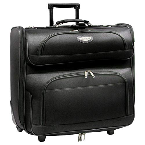 Travel Select Amsterdam Rolling Garment Bag Wheeled Luggage Case, Black (23-Inch)