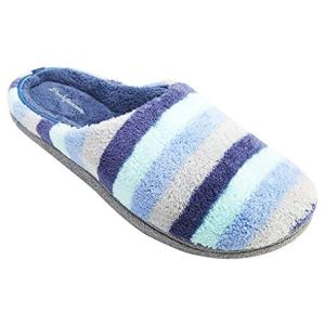 Dearfoams Women's Leslie Quilted Microfiber Terry Clog Slipper
