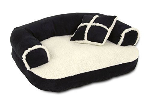 Petmate 28377 20-Inch Sofa Pet Bed with Pillow - Random Color - Beige, Black, Brown or Burgundy