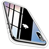 Meifigno Natural Series iPhone X Case, iPhone Xs Case, [Certified Military Protection][Agile Button], Transparent Hard PC with Soft TPU Bumper, Protective Clear Cover for Apple iPhone X/Xs 5.8', Clear