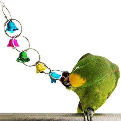 Bells Bird Toy Colorful Chewing Hanging Cage Bite 1