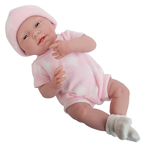 """La Newborn Boutique - Realistic 15' Anatomically Correct Real Girl Baby Doll – All Vinyl """"Pink and White"""" Designed by Berenguer – Made in Spain"""