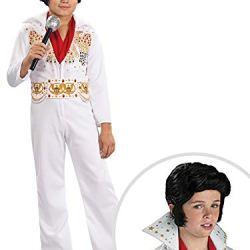 Elvis Costume Kit Kids Medium With Wig