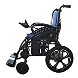 2019 Electric Wheelchairs Silla de Ruedas Electrica para Adultos FDA Approved Transport Friendly Lightweight Folding Electric Wheelchair for Adults (Blue)