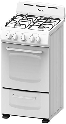 Avanti GR020POW 20' Freestanding Gas Range Cooktop, White
