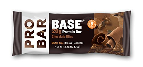 PROBAR - BASE 2.46 Oz Protein Bar, Chocolate Bliss, 12 Count - Organic, Gluten-Free, Plant-Based Whole Food Ingredients