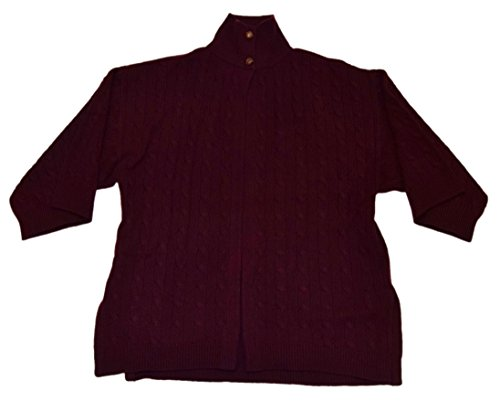 813G9qm0t0L Brand: Ralph Lauren - Polo Features: Features: Hints of Plum, Burgundy, Purple, Red Knit Shawl Cardigan Sweater Care: Dry Clean