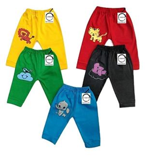 Chirsh Baby Boys' & Baby Girls' Regular Fit Trackpants (Pack of 5)