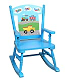 Product review for Olive Kids Trains, Planes, Trucks Rocking Chair, Blue