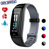 Mgaolo Fitness Tracker,Smart Watch Activity Tracker Health Bracelet Waterproof Wristband with Heart Rate Blood Pressure Pedometer Sleep Monitor Calorie Step Counter for Men Women Kids(Gray)