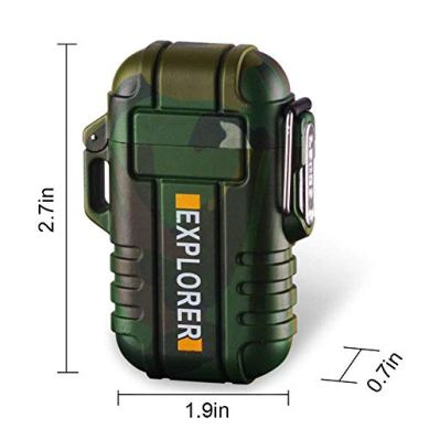 Green-Vivid-Waterproof-Flameless-Electric-Lighter-Dual-Arc-Plasma-Beam-Lighter-USB-Rechargeable-Windproof-No-Butane-Ideal-Lighter-for-Indoor-and-Outdoor-Activities-Camouflage