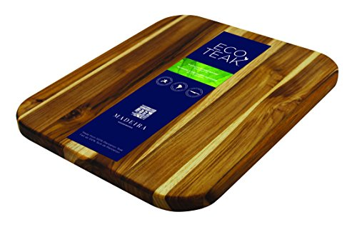 Madeira B-03 Large Utility Eco-Teak Cutting Board, 12.25' x 14.5', Wood