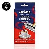 Lavazza Crema e Gusto Ground Coffee Blend, Espresso Dark Roast, 8.8 Oz Bags (Pack of 4).