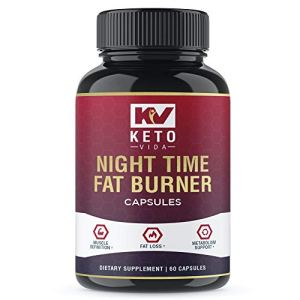 Keto Vida Weight Loss Fat Burner for Night Time to Suppress Appetite and Reduce Cravings; 60 Servings 23