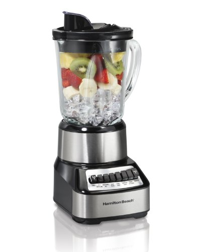 Hamilton Beach 54221 Wave Crusher Blender with 14 Functions and 40oz Glass Jar Stainless Steel