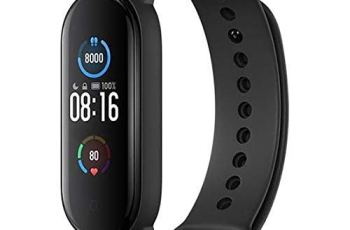 Kybrox Enterprise M5 Smart Fitness Wrist Band Watch with Activity Tracker   Heart Rate Monitor   Step Counter   Touch Display & Much More Functions Compatible with All Smartphones(Black)