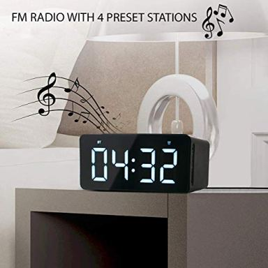 ModernHomeMaker-Alarm-Clock-with-Wireless-Charging-Dock-for-Phone-Radio-Digital-Alarm-Clock-with-Bluetooth-Speaker-and-Jumbo-LED-Adjustable-Brightness-Display-plus-USB-Charger-for-Any-USB-Device
