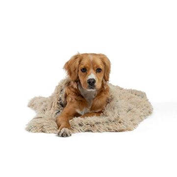 Best-Friends-by-Sheri-Luxury-Shag-Dog-Cat-Throw-Blanket-30x40-Taupe-Matching-Donut-Shag-Cuddler-Bed-Multi-Use-Mat-Sofa-Cover-Warming