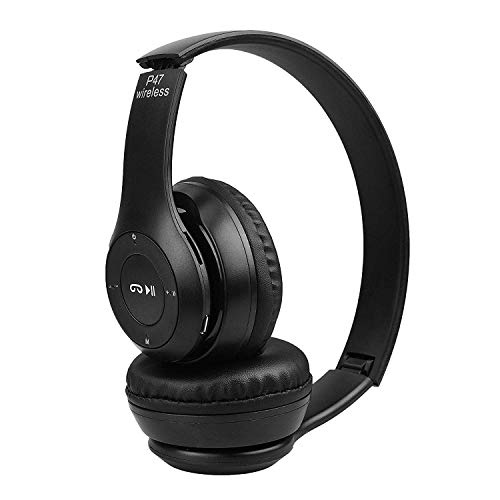 DZK Mi Oppo Vivo Compatible Bluetooth Headphone with FM and SD Card Slot Support Hands-Free Calling with Mic Vol Control Excellent Audio 3.5 mm Jack