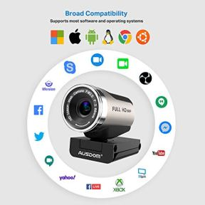 Webcam-1080P-with-Tripod-Stand-2021-Upgraded-AUSDOM-AW615S-USB-PlugPlay-FHD-Web-Camera-with-Microphone-360-Rotation-for-Zoom-Skype-MS-Twitch-Xbox-One-OBS-Teams-Laptop-MAC-Windows-PC-Desktop