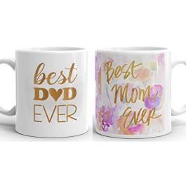 Youth Style Ceramic Coffee Mug Set – 2 Pieces, Multicolor, 330 ml