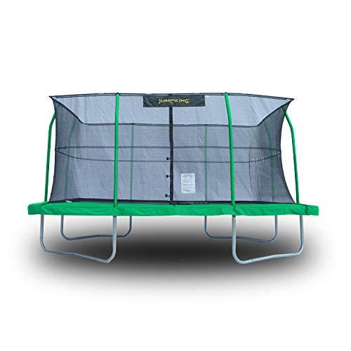JumpKing 10 x 14 Foot Rectangular Trampoline with Safety Net Siding | JKRC1014C2