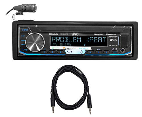 JVC KD-X360BTS Car Digital Media Bluetooth Receiver iPhone/Android/XM+Cable