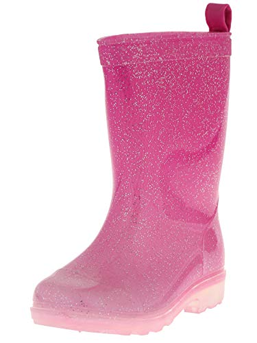 Capelli New York Girls Slight Ombre Effect Rain Boots with Allover Glitter Pink Combo 1
