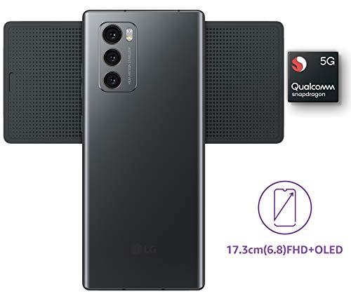 415iNMcLLPL - LG Wing with Swivel Mode (Aurora Gray, 8GB RAM, 128GB Storage)