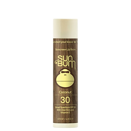 Sun Bum Coconut Sunscreen Lip Balm, SPF 30, 0.15 oz Stick, 1 Count, Broad Spectrum UVA/UVB Protection, Hypoallergenic, Paraben Free, Gluten Free, Vegan