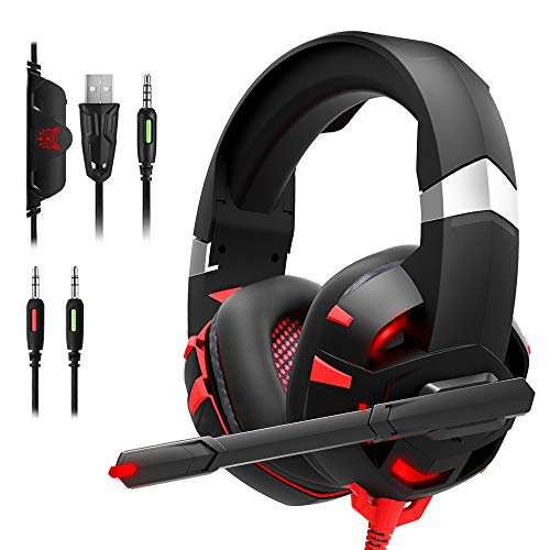 RUNMUS Gaming Headset Xbox One Headset with 7.1 Surround Sound Stereo, PS4...