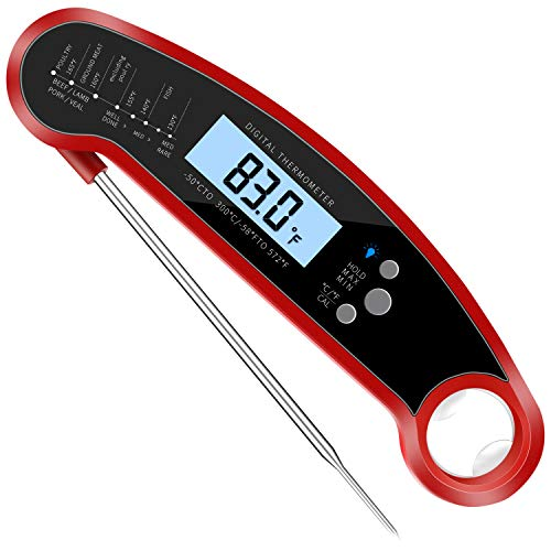 (10) Instant Read Meat Thermometer for Grill and Cooking