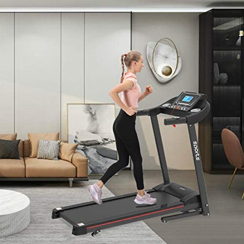 """uslion Folding Treadmill, Smart Motorized Treadmill with Manual Incline and Air Spring & MP3, Exercise Running Machine with 5"""" LCD Display for Home Use 7"""
