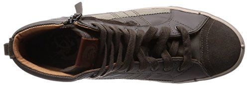 Rubber sidewall and outsole Cushioned footbed Nine-eye lace closure