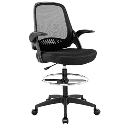 Drafting Chair Tall Office Chair Cheap Desk Chair Mesh Computer Chair Adjustable Height With Lumbar Support Flip Up Arms Swivel Rolling Executive Chair For Standing Desk Amazon Price Tracker Pricepulse